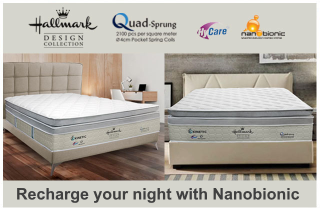 Recharge your night with Hallmark mattress from Nanobionic technology