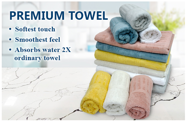 The pinnacle of Hallmark Egyptian cotton towel blend with bamboo fiber in heavy 550 GSM